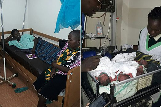 Ms Jacinta Akinyi rests after giving birth to five children at Matata Nursing Home in Homa Bay County on November 12, 2017. PHOTO | BARRACK ODUOR