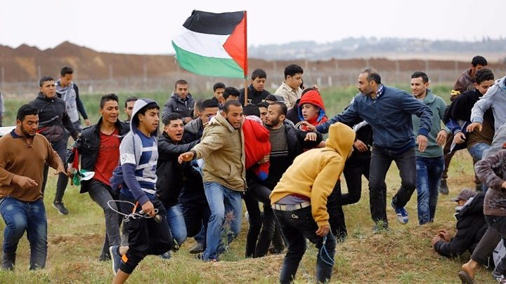 Clashes took place along Gaza's border with Israel