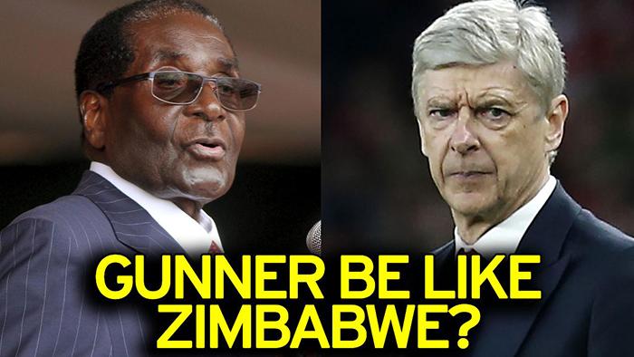 Robert Mugabe and Arsene Wenger