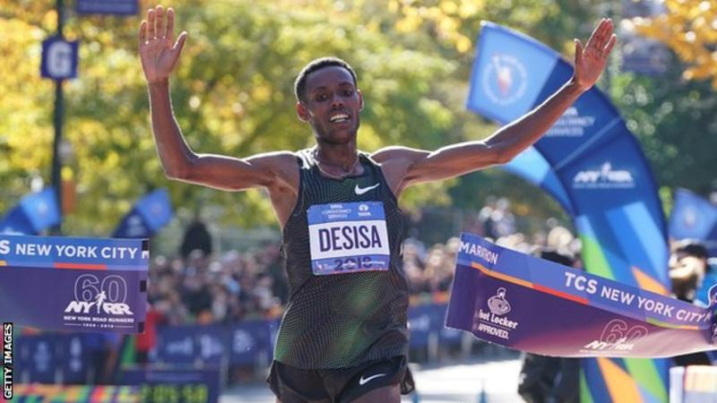 Lelisa Desisa won the Boston Marathon in 2013 and 2015 but had previously never won in New York