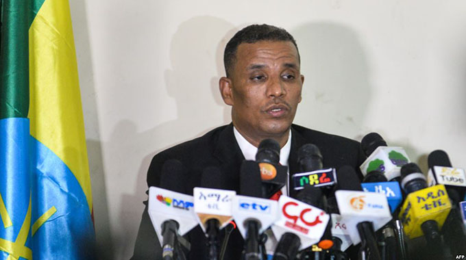 Ethiopia's Attorney General Birhanu Tsegaye speaks about the corruption and human rights violation reports in the country, following the detention of 63 military and intelligence officers in Addis Ababa, November 12, 2018. - VOA AFRICA: Ex-head of military company jailed over corruption
