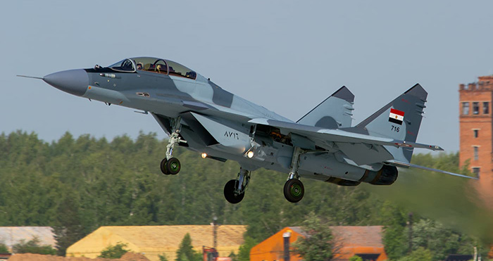 Russian-made MiG-29 fighter plane