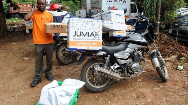 Jumia delivers goods via scooter and offers a variety of payment options