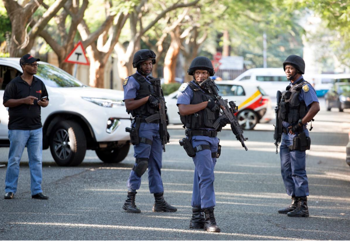File picture of members of the South African Police Service