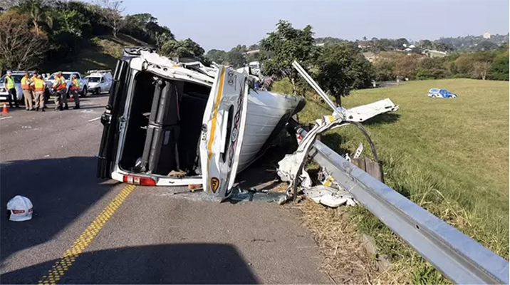 Four people were killed in a crash on the N3 Pinetown. Picture: Rescue Care Paramedics
