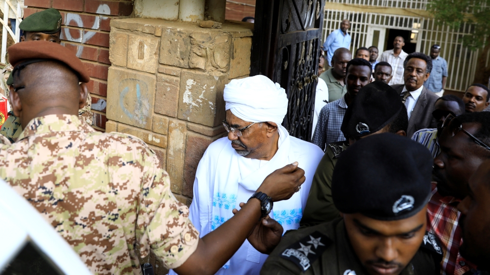 Sudan's ex-president Omar al-Bashir was charged with corruption-related offences on Sunday, as he appeared in public for the first time since he was overthrown and detained in April.
