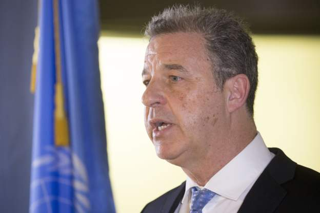 Serge Brammertz works in the court which is handling outstanding cases from the Rwanda genocide