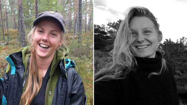 Maren Ueland, left, and Louisa Vesterager Jespersen were studying to be tour guides
